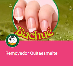 removedor quita esmalte uñas BACHUE