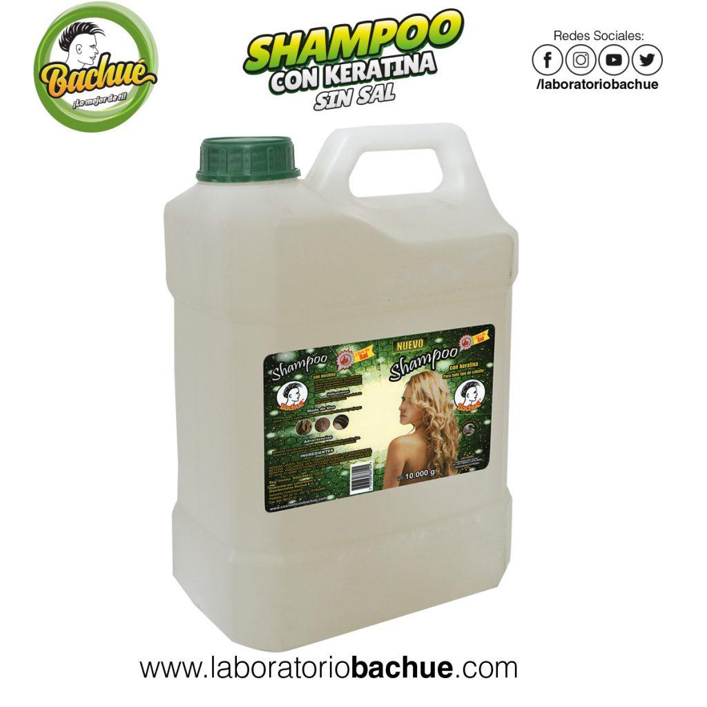 Shampoo con Keratina Bachue 10 litros