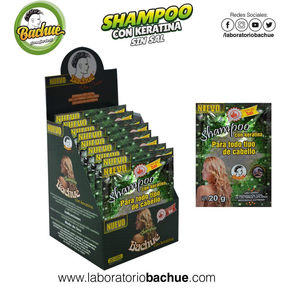 Shampoo con Keratina Bachue 20 gramos