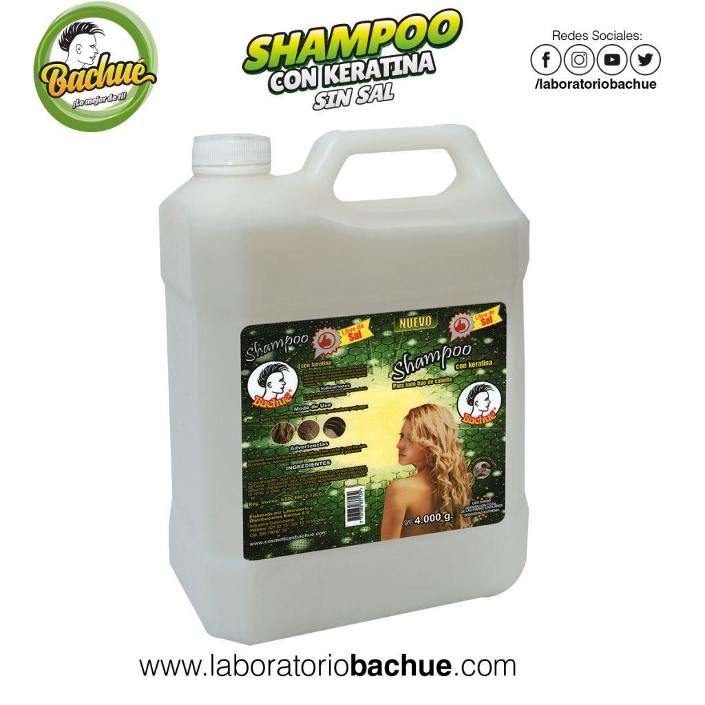 Shampoo con Keratina Bachue 4 litros