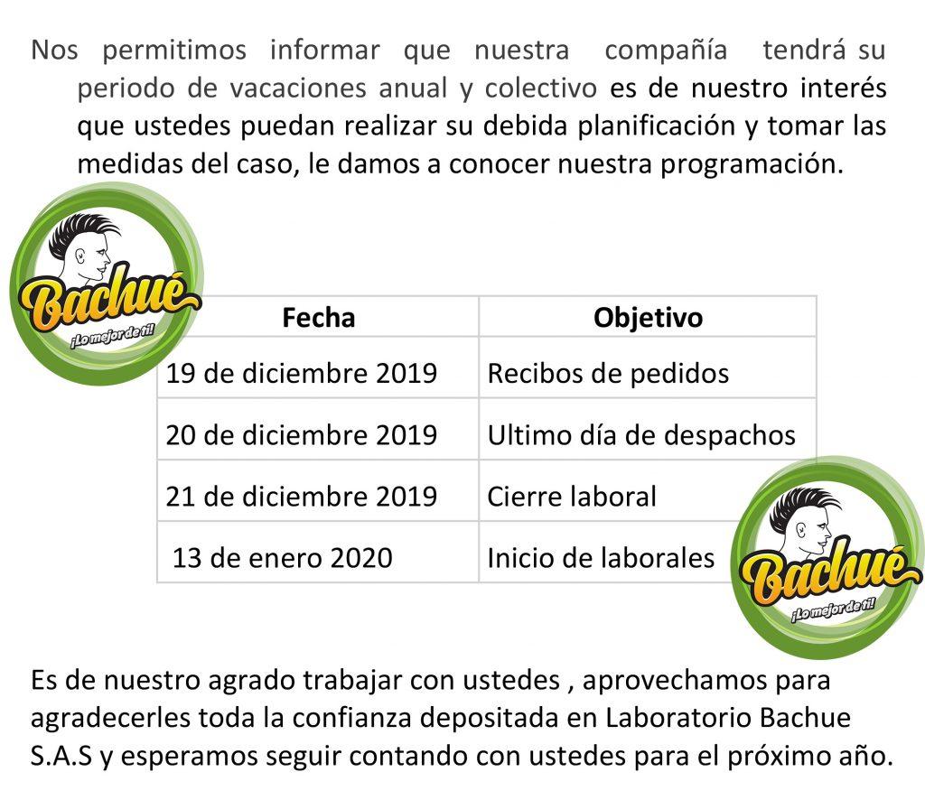 CIRCULAR FIN DE AÑO 2019-